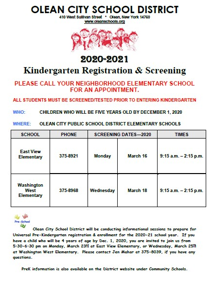 UPK and K Registration Dates