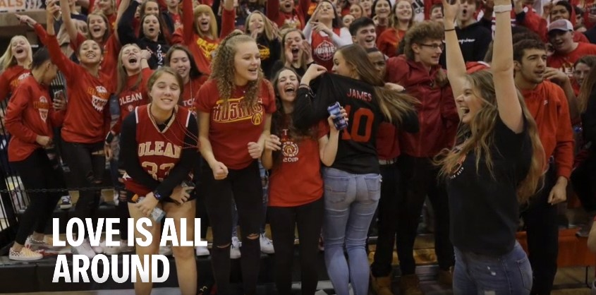 Olean Video with student photos