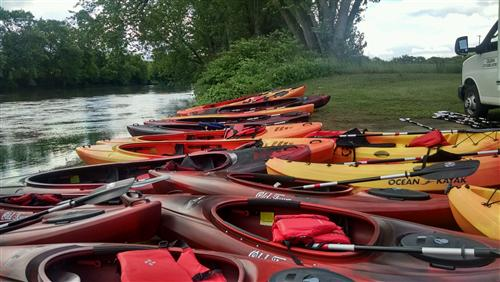 Kayaks purchased with PEP grant funds