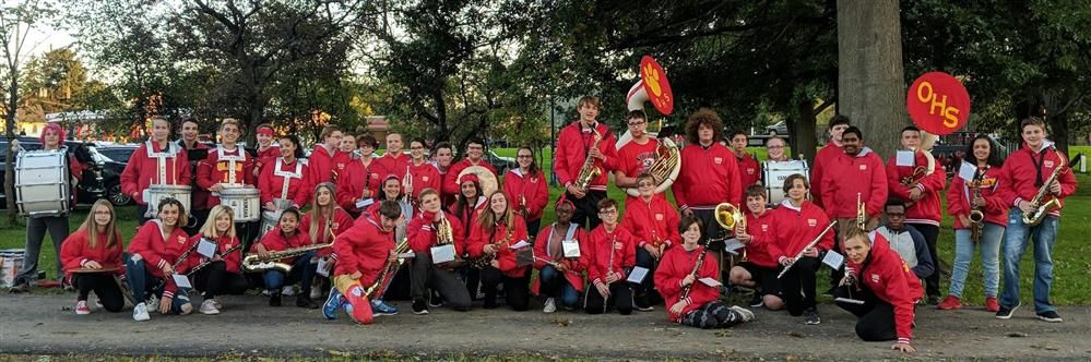 Olean Band at the Homecoming Game