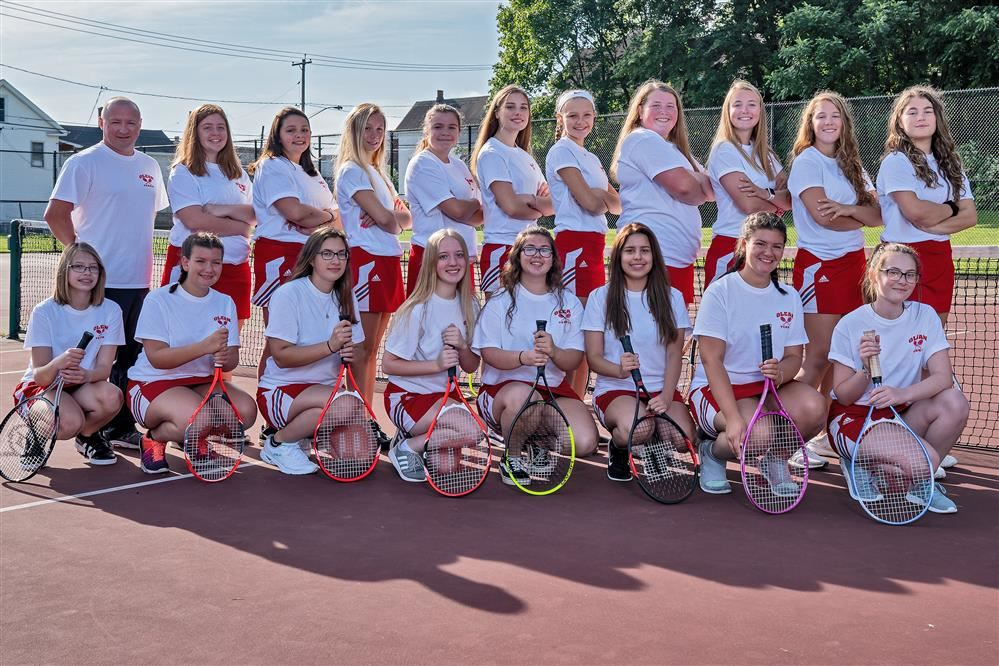 2019 Girls Varsity Tennis Team