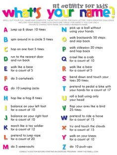 Alphabet Workout